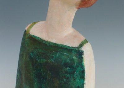 Pige med grøn kjole