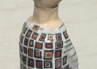 Pige med patchwork kjole