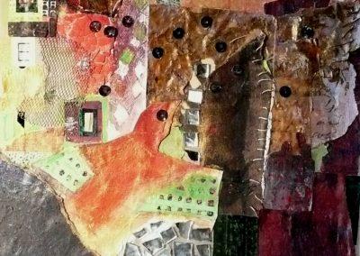 Collage med syninger