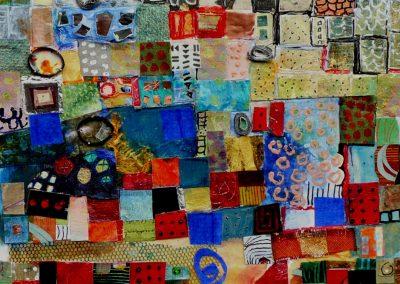 Collage med firkantede stykker