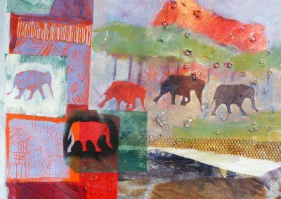 Scene med elefanter