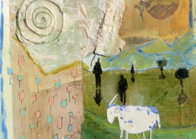 Landskab med et får