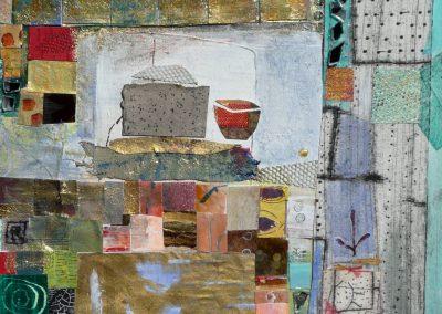 collage med spejlstykker