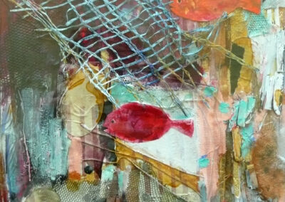 Lille collage med fisk