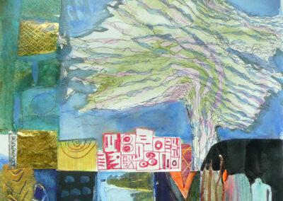 Collage med træ